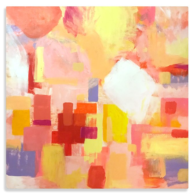 City Lights New York abstract painting