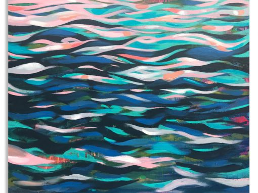 Rip Tide River abstract painting