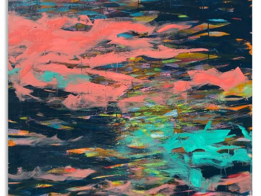 Shimmer River Revisited abstract painting