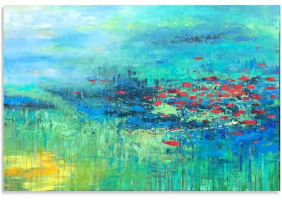 Tranquil River abstract painting SOLD
