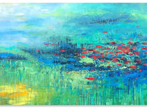 Tranquil River abstract painting