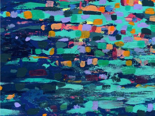 Autumn River abstract landscape painting SOLD