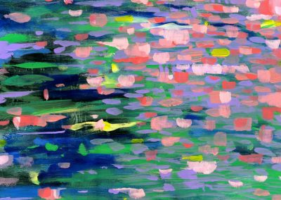 Blossom River Abstract Landscape SOLD