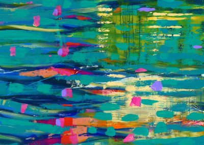 City River Abstract Landscape SOLD