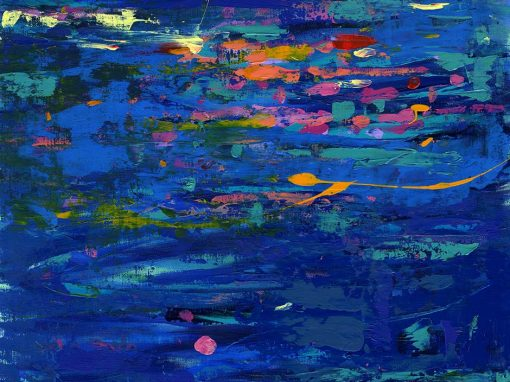 Dancing River abstract landscape painting SOLD