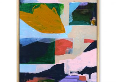 Distant Mountain original abstract painting