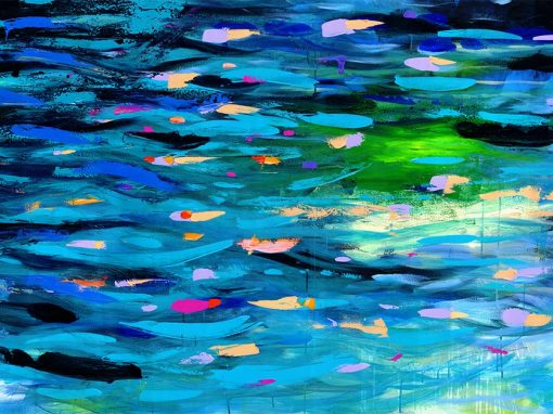 Glow River abstract landscape painting SOLD
