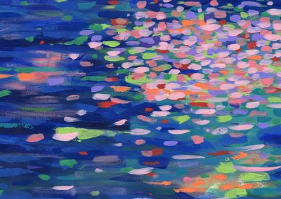 Hana Kawa River Abstract Painting SOLD