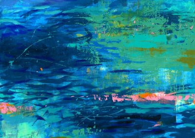 Little River Blue Abstract Landscape SOLD