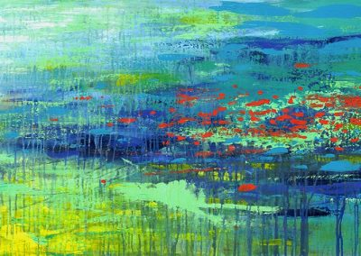 Quiet River abstract landscape SOLD
