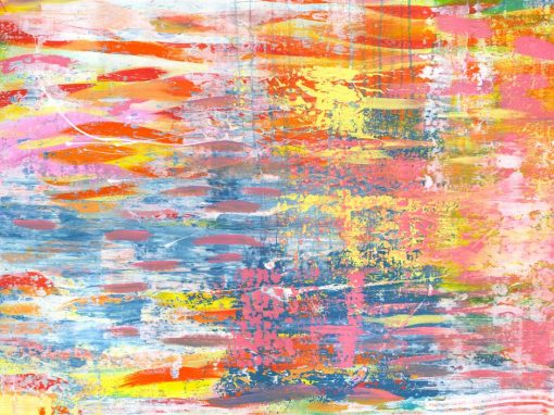 Rainbow River abstract landscape painting SOLD