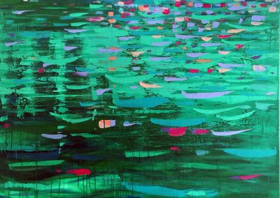 Warrandyte River abstract landscape painting SOLD