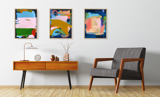 Relaxual Series original paintings