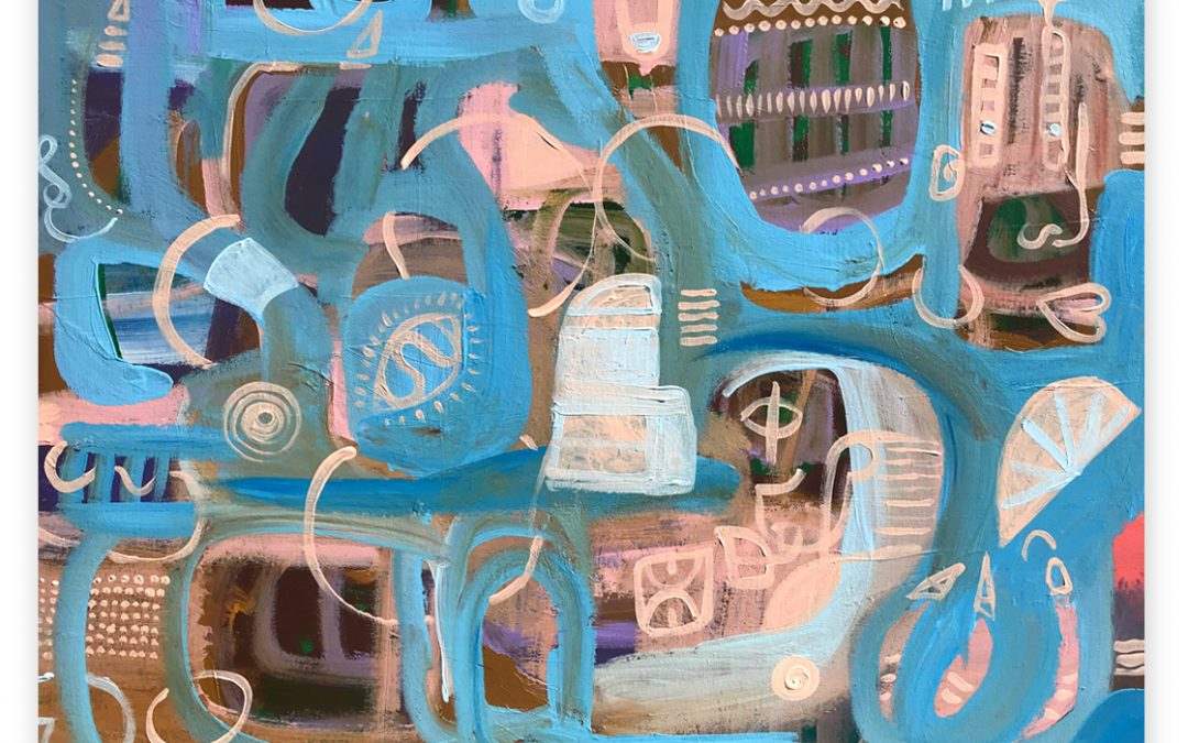 Miscellany blue painting