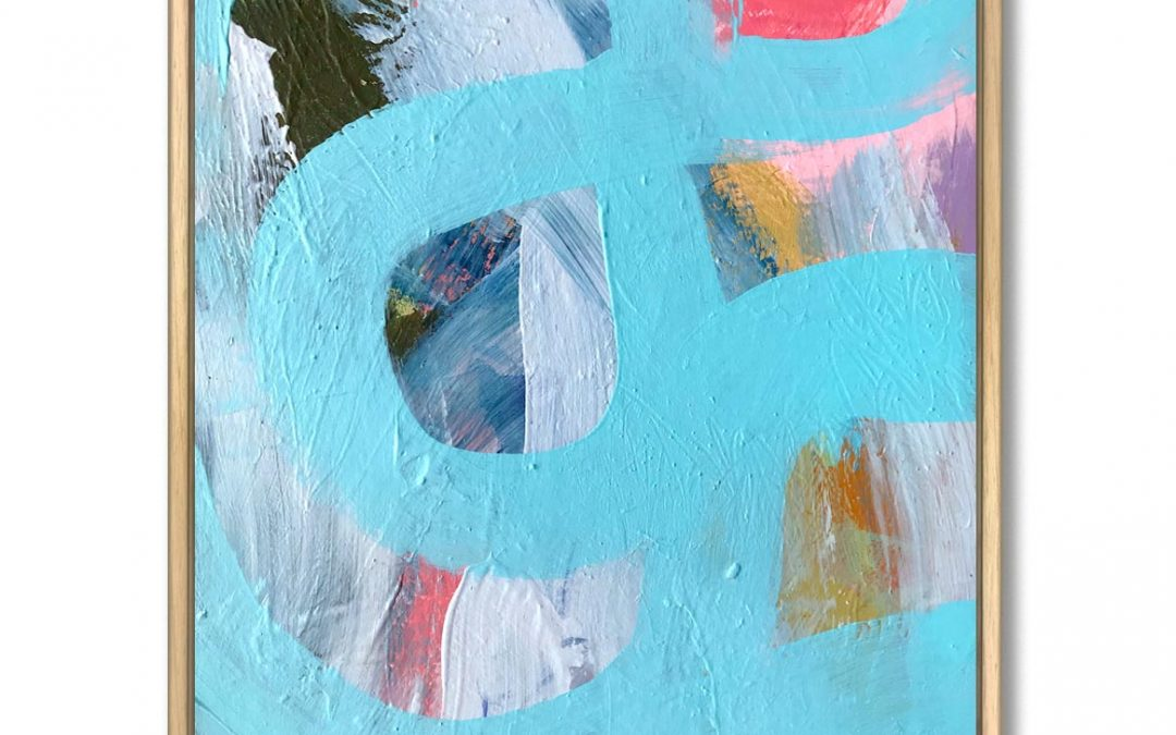 Talk to me abstract painting